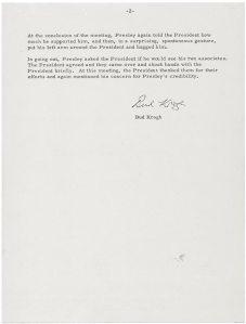 Notes Show Nixon Skepticsm Of Elvis As Secret Agent