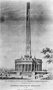 Early Obelisk Design Following Equestrian Proposal