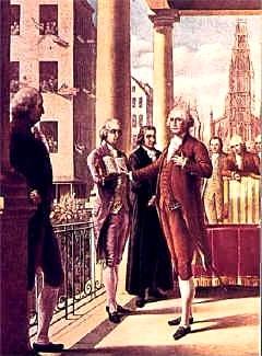 Washington Inaugural 1789 (note the sword)