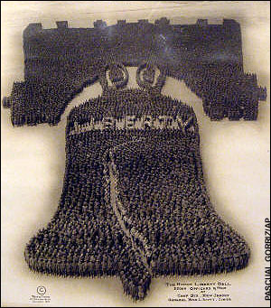 "Arthur S. Mole ""Human Liberty Bell"" (1918) Featuring 12,500 soldiers"