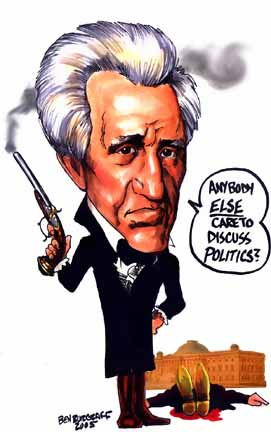 Quincy Adams is Lucky Andy Didn't turn to the pistols to resolve the electoral college SNAFU in 1824