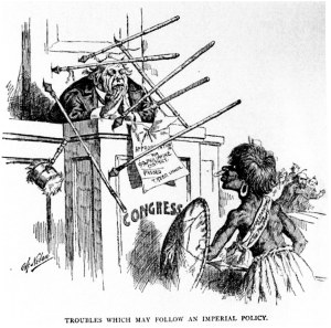 Newspaper Racist Protest of US Occupation of Philippines After Spanish American War