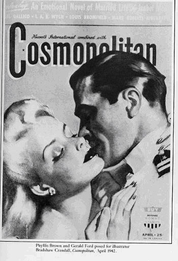Ford and Brown Also Modeled for the Cover of Cosmo in April 1942