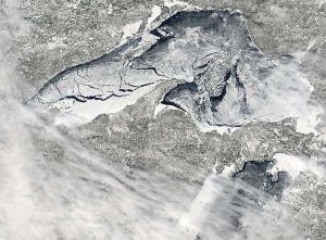 Satellite View of Frozen Lake Superior...2nd time in 6 years