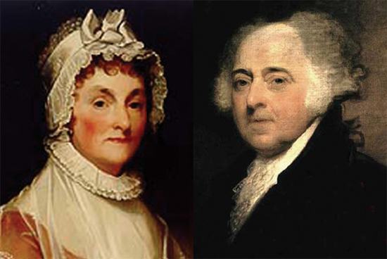 Image result for John and Abigail Adams photo