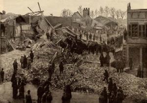 Falls City Hall Debris-Original Photo Claimed 75 dead
