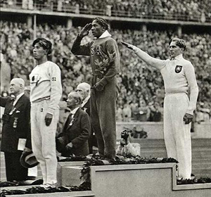"Jesse Owens PO'd Hitler in 1936 a few months after the Nazi election ""victory"""