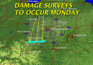 Indianapolis NWS to do survey Monday