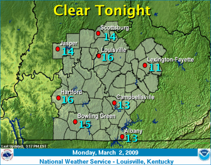 NWS Tue AM Forecast Temperatures