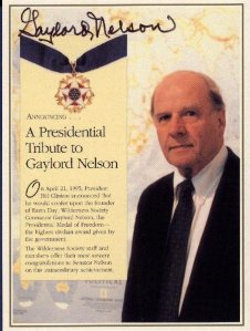 Pres. Clinton Gave Nelson The Presidential Medal of Freedom