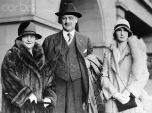 Giannini in 1928 with Wife and Daughter