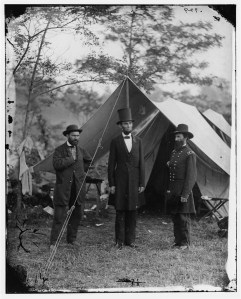 "Allen Pinkerton (left) America's First ""Private Eye"" Keeps Tabs on Abe"