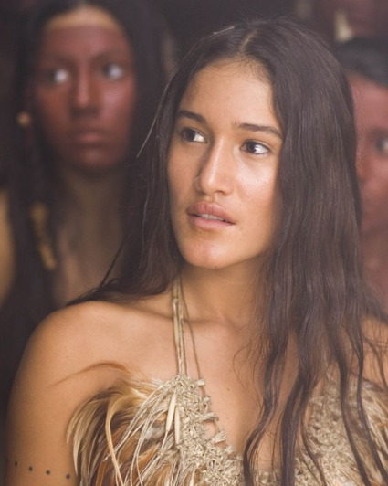 "Q'orianka Kilcher as Indian Princess in ""New World"" 2005"