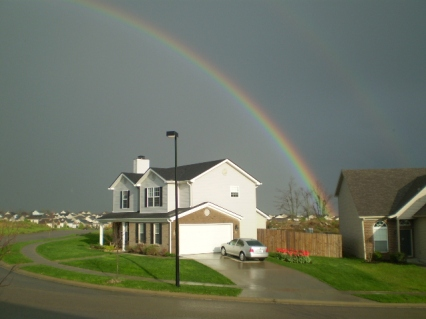 Lexington Double Rainbow Late Monday