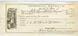 1863 Tax Receipt