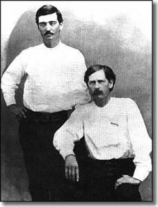 Bat Masterson(left) and Wyatt Earp