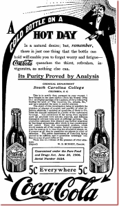 "Coca Cola Proved ""Pure"" In 1906"