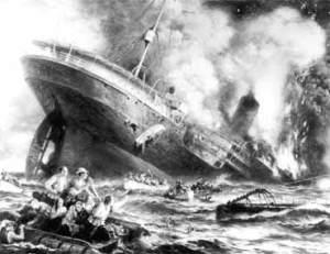Lusitania Sank Awfully Fast