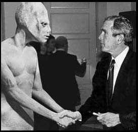 Photos Don't Lie! Space Alien Met With President Bush