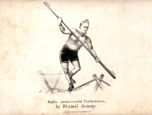 Blondin's Fame was Enough for its use in parody of James Buchanan's failed efforts prior to the Civl War