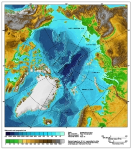 Contour Map Under Arctic