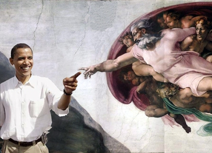 "Is This What Evan Thomas Means When He Said Obama is ""sort of God?"""
