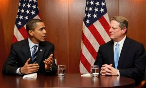 Obama and Gore At the Same Table