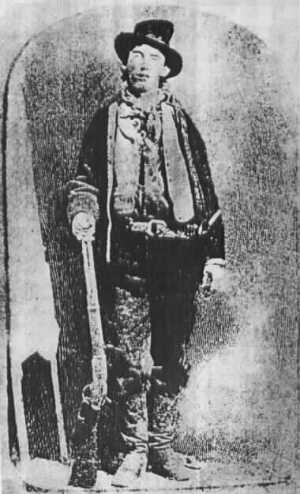 Famous Billy The Kid Photo with Rifle in Right Hand