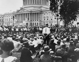 Bonus Marchers at Capitol June 17, 1932