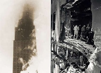 empire state bldg and twin towers were hit by planes but only the