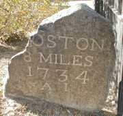 Franklin Milepost Near Boston