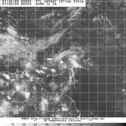 Invest 97L July 19 2009