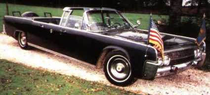 JFK was riding in this Lincoln in Dallas