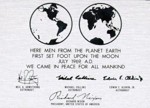 Plaque Left on Moon