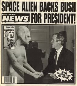 Bush had support from other worlds