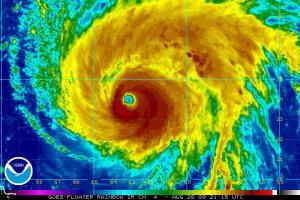 Hurricane Bill Satellite 2115Z 082009