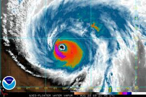 Hurricane Bill Water Vapor 2145Z 08.20.09