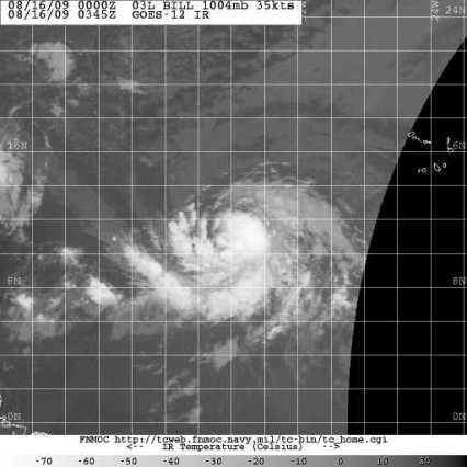 TS Bill Satellite 0345Z 08.16.09