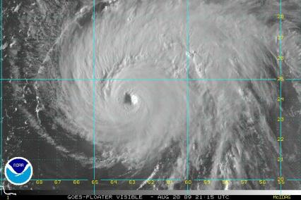 Hurricane Bill Visible Satellite 2115Z 08.20.09