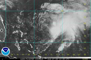 Danny Visible Satellite Image 1445Z 08.27.09