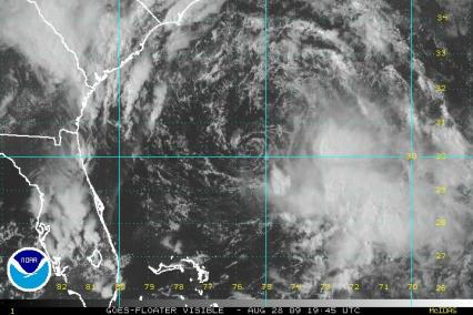 TS Danny Visible Image not much to look at with exposed center 19:45Z 08.28.09