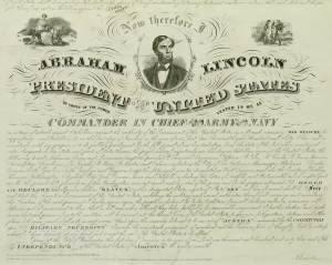 Final Version of Emancipation Proclamation