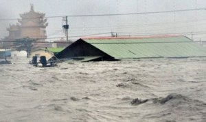 100 In. of Rain Causes Massive Flooding in Taiwan