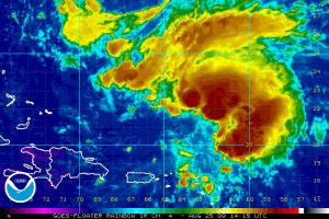 Invest 92L Rainbow IR Satellite