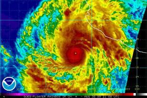 Hurricane Jimena Infrared Rainbow Image 21Z 083009