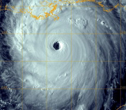 Hurricane Katrina as Cat 5 Hurricane Well Before Landfall