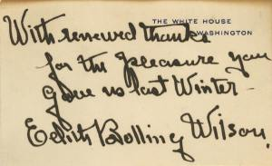 Edith Handled Correspondence But Her Signature is rarely found by collectors