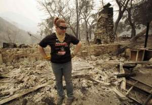 Big Tujunga Canyon Resident Returns to Ruins