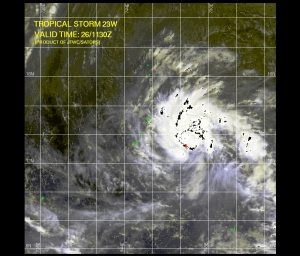 Tropical Storm 23W 1130Z 10.26.09 (Typhoon Mirinae)
