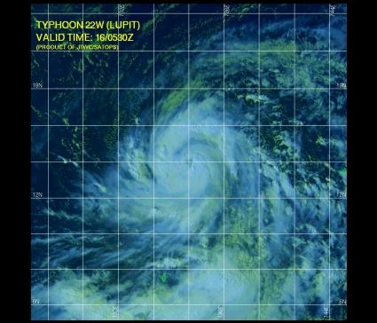 Typhoon Lupit 10.16.09 0530Z